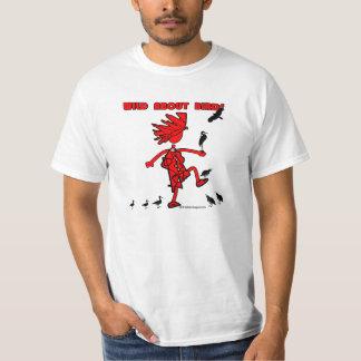 Salvaje sobre diseño rojo de los pájaros camisas