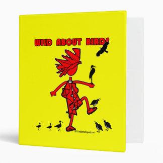 """Salvaje sobre diseño rojo de los pájaros carpeta 1"""""""