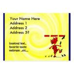 Salvaje sobre diseño rojo de los pájaros tarjetas de visita