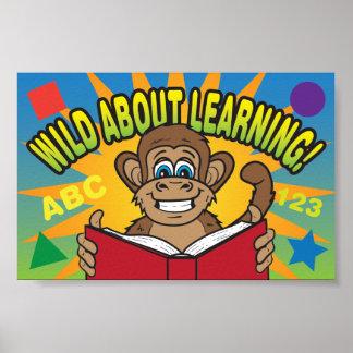 Salvaje sobre el aprendizaje del poster elemental  póster