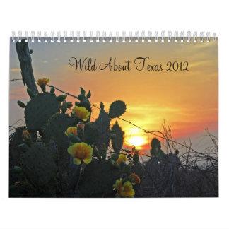 Salvaje sobre el calendario 2012 de Tejas