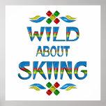 Salvaje sobre el esquí poster