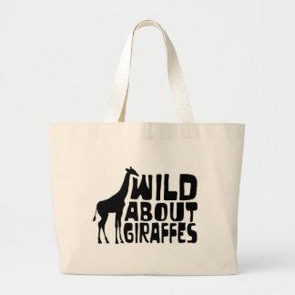 Salvaje sobre jirafas bolsas