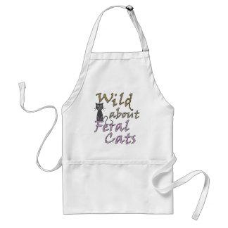 Salvaje sobre los gatos salvajes - gato salvaje delantal
