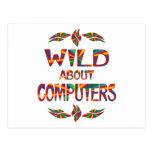 Salvaje sobre los ordenadores tarjeta postal
