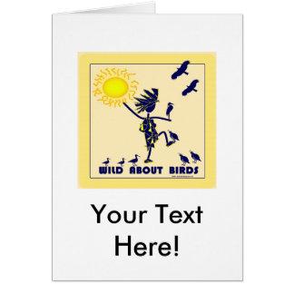Salvaje sobre los pájaros - observación de pájaros tarjeta de felicitación