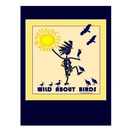 Salvaje sobre los pájaros - observación de pájaros postal
