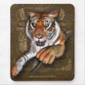 Salvaje sobre los tigres personalizados tapete de ratones