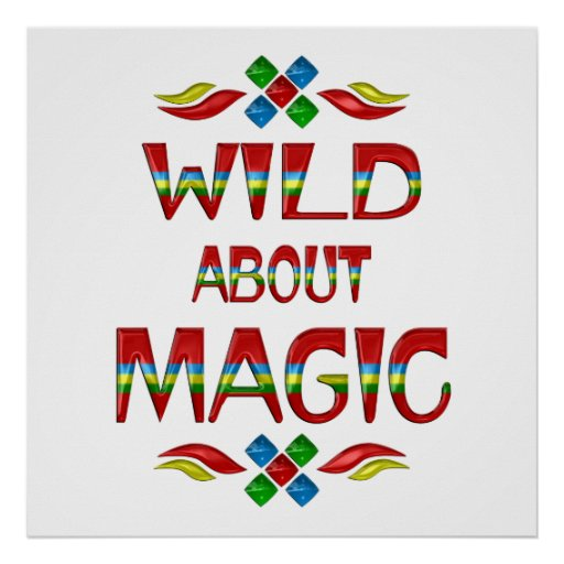 Salvaje sobre magia póster