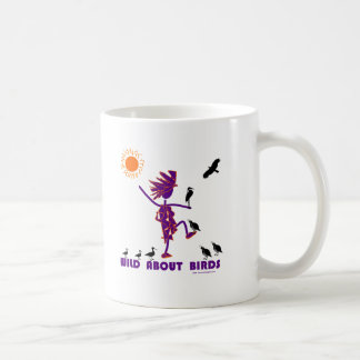 Salvaje sobre pájaros tazas de café