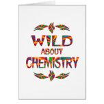 Salvaje sobre química tarjetón