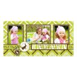 Salvaje sobre tarjeta del trío de la foto de los c tarjetas fotográficas personalizadas