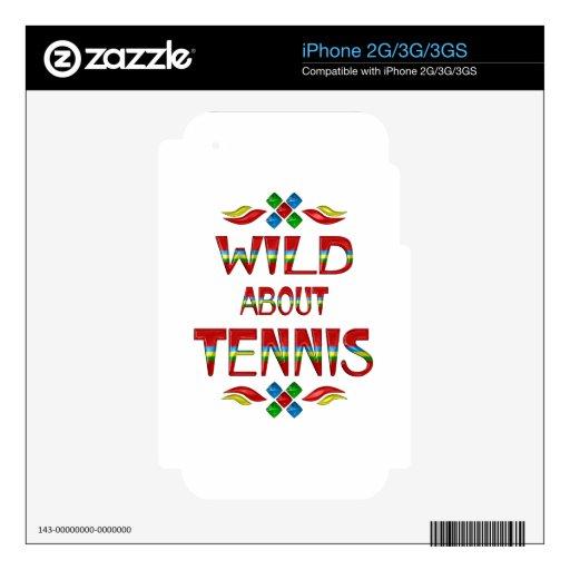 Salvaje sobre tenis calcomanías para el iPhone 3GS