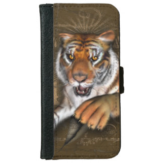 Salvaje sobre tigres funda cartera para iPhone 6