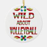 Salvaje sobre voleibol ornamento de reyes magos