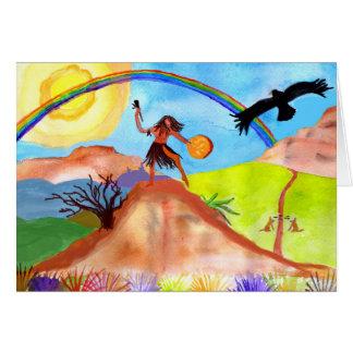 Salvaje - tarjeta de felicitación de Shamanic del