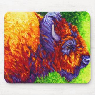 Salvaje y lanoso - búfalo rojo alfombrilla de raton