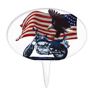 Salvaje y libere - Eagle patriótico, la moto y la  Palillos De Tarta