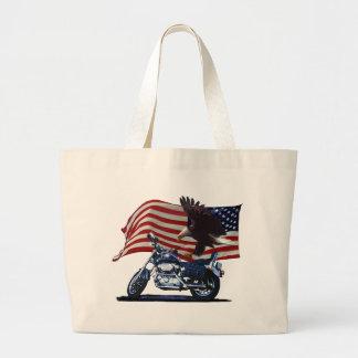 Salvaje y libere - Eagle patriótico, la moto y la Bolsa De Tela Grande