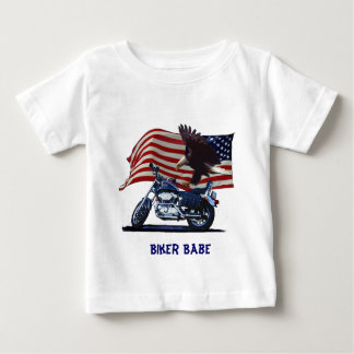 Salvaje y libere - Eagle patriótico, la moto y la T Shirt