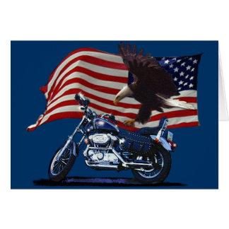 Salvaje y libere - Eagle patriótico, la moto y la Tarjeta Pequeña