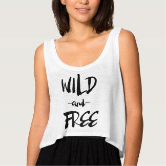 Salvaje y libere las camisetas sin mangas modernas