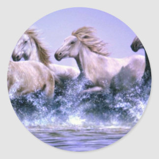 Salvaje y libere los caballos de Camargue Pegatina