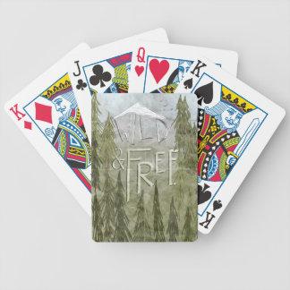 Salvaje y libre baraja cartas de poker