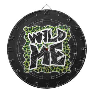 Salvaje yo diseño negro y verde del leopardo