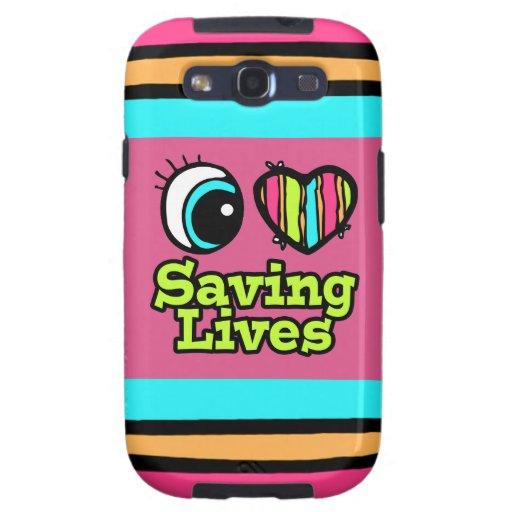 Salvares vidas brillantes del amor del corazón I Galaxy S3 Fundas