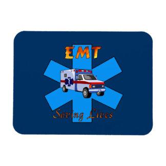 Salvares vidas de EMT Imán Foto Rectangular