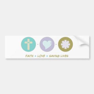 Salvares vidas del amor de la fe pegatina para auto
