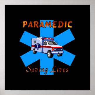 Salvares vidas del paramédico posters