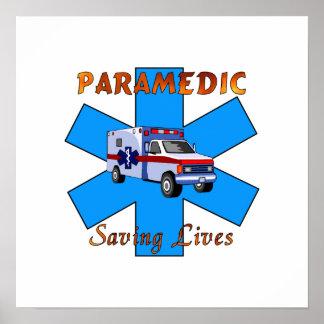 Salvares vidas del paramédico impresiones