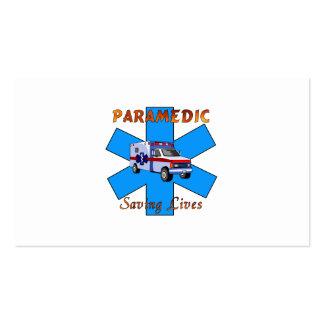 Salvares vidas del paramédico tarjetas de visita