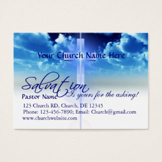 Salvation Card: Yours For the Asking Business Card