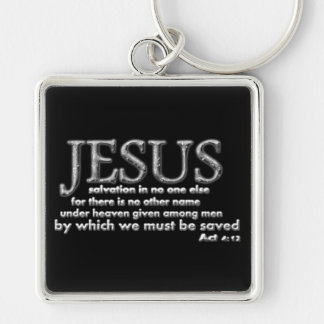 Salvation in JESUS alone Silver-Colored Square Keychain