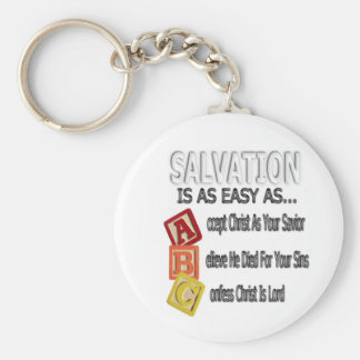 Salvation Is Easy As ABC Basic Round Button Keychain
