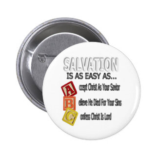 Salvation Is Easy As ABC Pinback Button