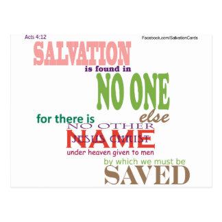 Salvation is thru JESUS CHRIST Postcard
