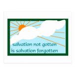 Salvation not gotten is salvation forgotten post cards