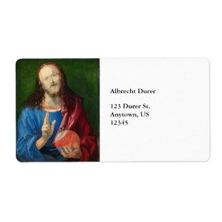 Salvator Mundi de Albrecht Durer Etiqueta De Envío