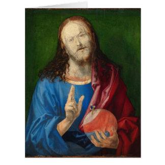 Salvator Mundi de Albrecht Durer Tarjeta De Felicitación Grande