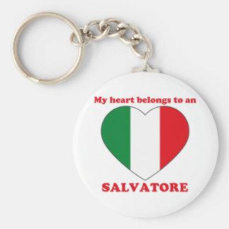 Salvatore Basic Round Button Keychain