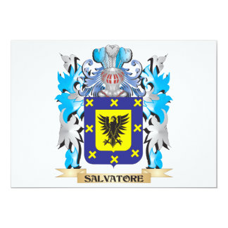Salvatore Coat of Arms - Family Crest 5x7 Paper Invitation Card