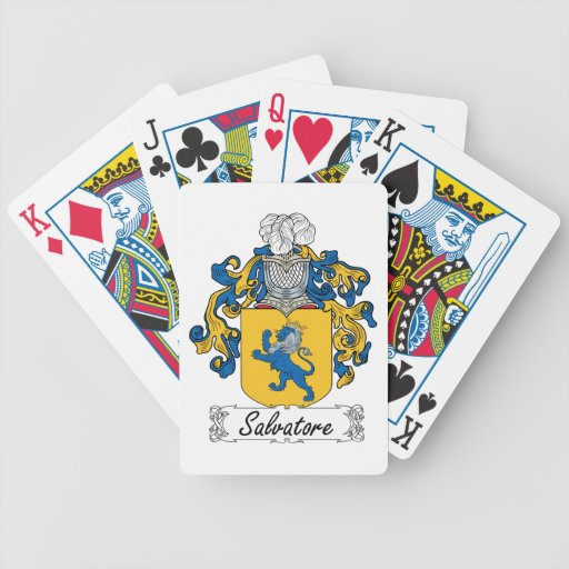 Salvatore Family Crest Bicycle Playing Cards
