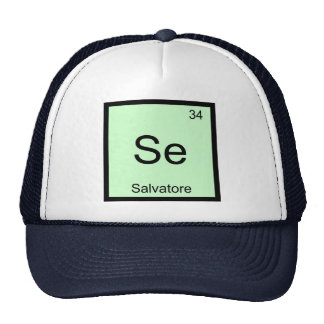 Salvatore Name Chemistry Element Periodic Table Trucker Hat