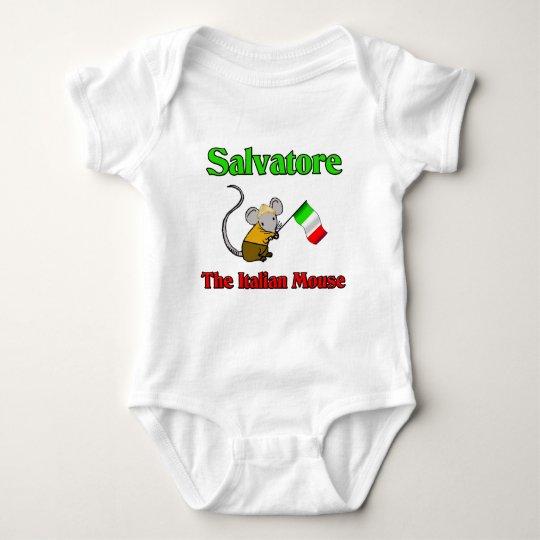 Salvatore The Italian Mouse Baby Bodysuit
