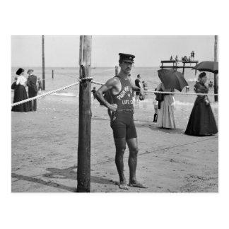 Salvavidas de la playa de Brighton, 1900s temprano Tarjeta Postal