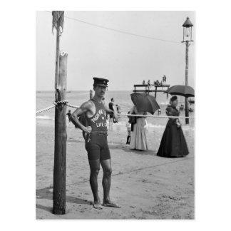 Salvavidas de la playa de Brighton, 1900s temprano Postal